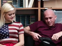 Light-haired babe Madison gets a super-steamy fuck-a-thon from a insatiable cop