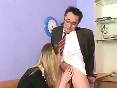 Doggie-style ravaging with lustful elderly teacher