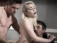 Teen dp'd by her stepdad and her uncle