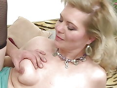 Blonde mature mothers fuck young dudes