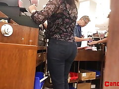 Bubble Butt Latina Nubile at Work - Candid