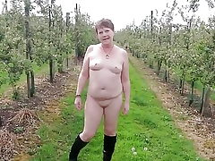 Sugary-sweet Naked Wander Thru an Apple Orchard