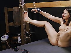 Punished lil fuckslut kicking around