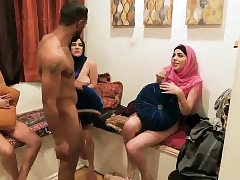Party girl creampie xxx Hot arab chicks try foursome