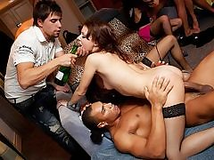 Super-Naughty gang nailing at sizzling hookup party
